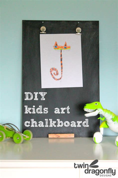 diy kids art chalkboard dragonfly designs