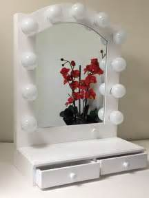 Makeup Vanity With Led Lights Posh Lighted Makeup Vanity Mirror With Drawers