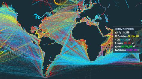 ship route map this is an incredible visualization of the world s