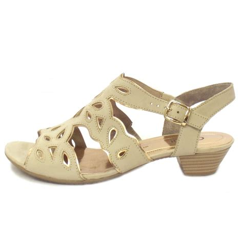 beige sandals low heel gabor sandals castle low heel sandal in beige and pink