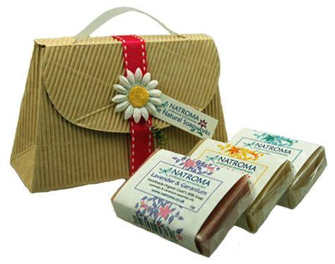 Handmade Soap Gift Sets - organic handmade goats milks soap handbag gift natroma