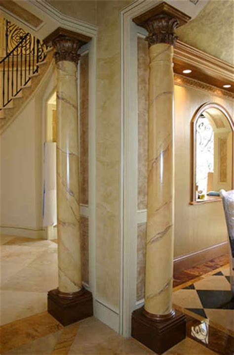 faux painted columns faux marble decorative finishes south florida artist