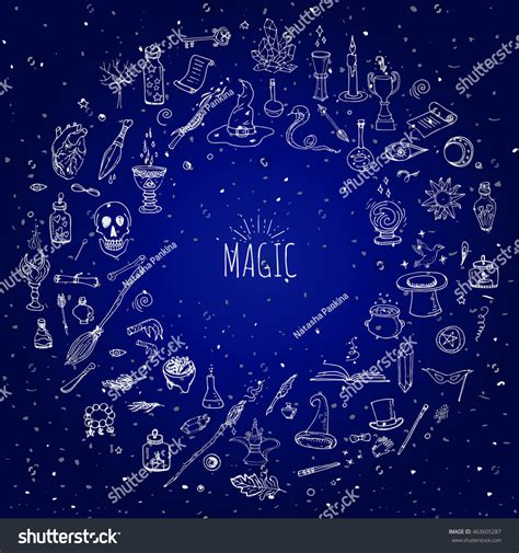 magic doodle doodle magic set vector stock vector 463605287