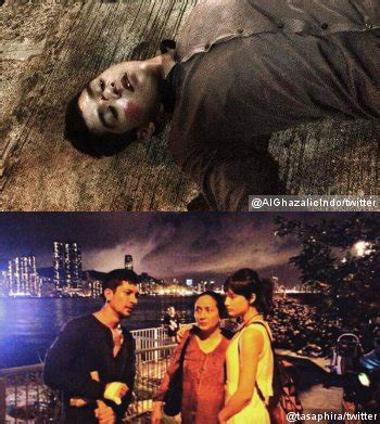 film jadul lantai berdarah wajah al ghazali lebam dan ekspresi sedih tatjana di foto