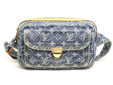authentic louis vuitton bum bag waist bag monogram denim