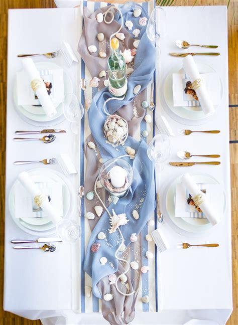 Tischdeko Hochzeit Maritim by Die Maritime Tischdekoration F 252 R Die Hochzeit Magazin