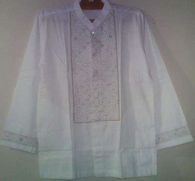 Baju Koko Al Luthfi Bm Al 09 jual baju koko pria putih al luthfi kotak