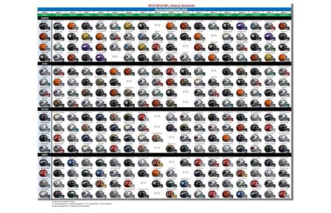 printable helmet schedule related keywords suggestions for 2016 2017 nfl schedule