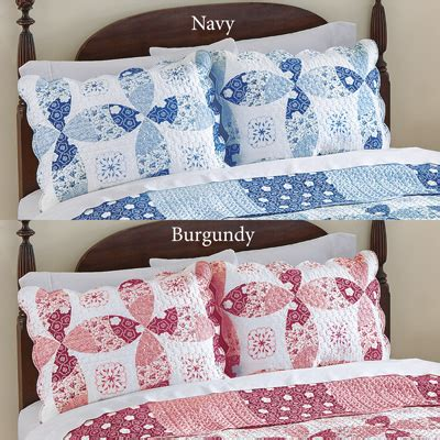 Patchwork Pillow Shams - roslyn floral patchwork pillow sham from collections etc