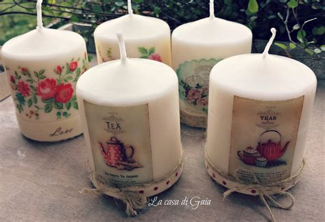 candele decorate candele decorate in stile vintage per la casa e per te
