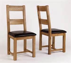 rustic oak leather dining chair pair hshire furniture