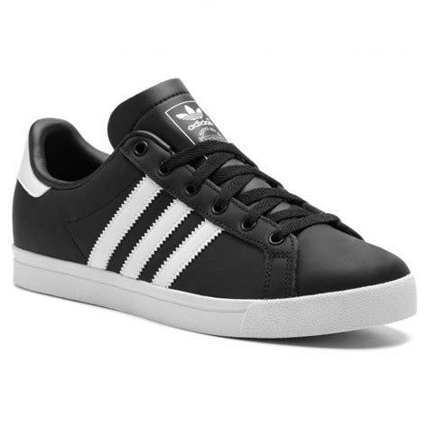 adidas coast star leatherette textile turnschuhe schwarz