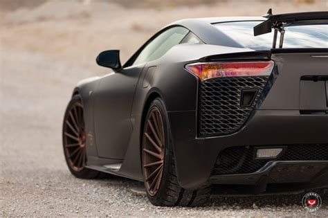 lexus lfa 2016 black satin black lexus lfa stuns on vossen wheels gtspirit