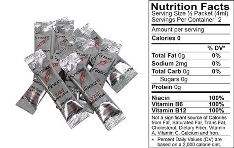 energy drink packets strike energy drink single packet