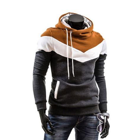 hoodie design best 2015 new men s color hooded fleece slim turtleneck