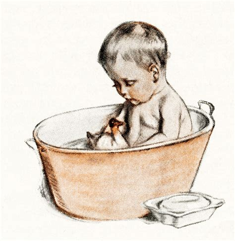 Baby Bath Tub With Shower free digital images vintage baby illustrations old