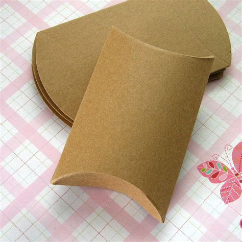 Cardboard Pillow Boxes by Recycled Brown Cardboard Packaging Kraft Paper Box