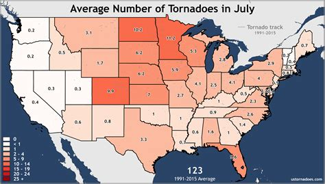 united states annual and monthly tornado averages for each state maps u s tornadoes