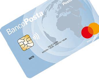 carta banco posta piu carta bancoposta pi 249 carta di credito poste italiane
