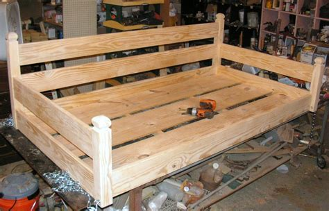 how to build a porch swing bed custom ordered swing bed by built2last lumberjocks com