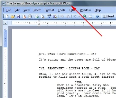 Importing A Script From Another Program Like Ms Word Microsoft Word Screenwriting Template