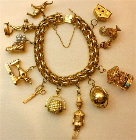 wonderfully vintage charm bracelet at 1stdibs