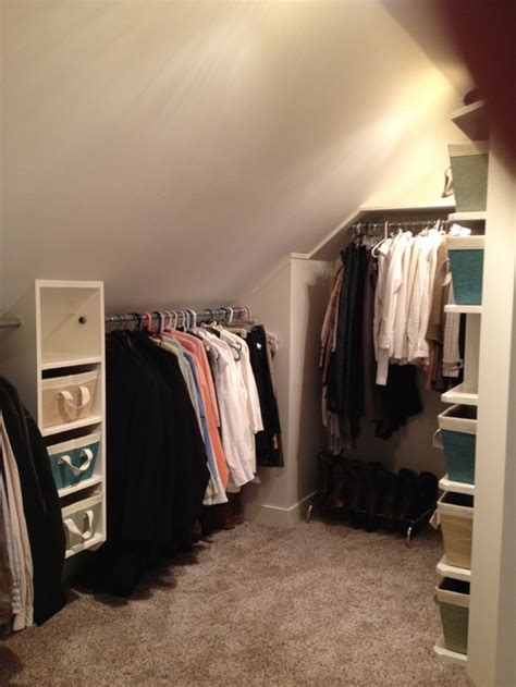 storage solutions for attic bedrooms sloped ceiling closets queen bee of honey dos