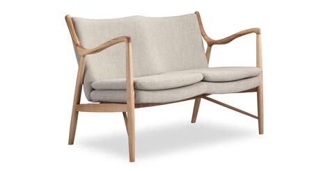 copenhagen 45 mid century modern loveseat 2 seat sofa
