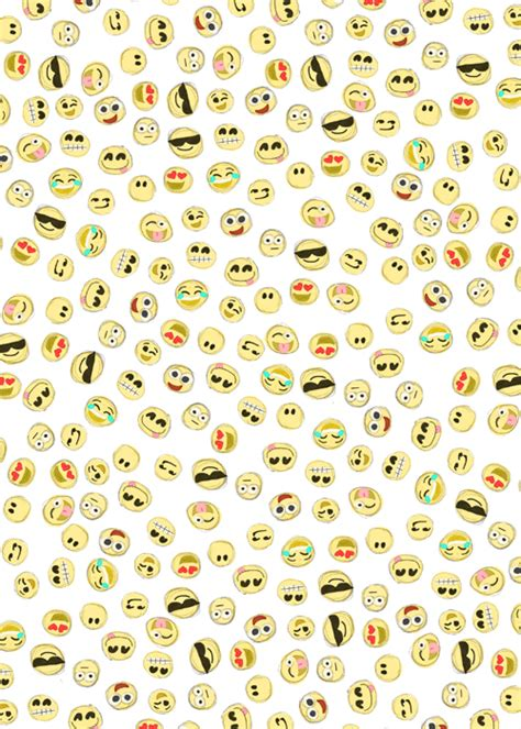 emoji wallpaper with white background cute emoji wallpapers for girls wallpapersafari