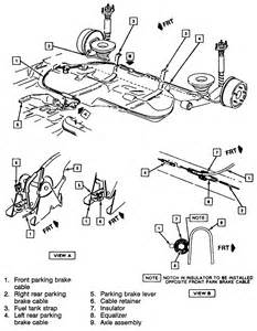 Emergency Brake System Diagram Repair Guides Parking Brake Cable Autozone
