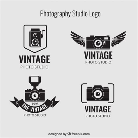 Vintage Photography Studio Logos Vector Free Download Free Psd Logo Templates For Photographers