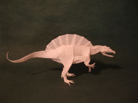 Origami Spinosaurus - spinosaurus kamiya by origami artist galen on deviantart