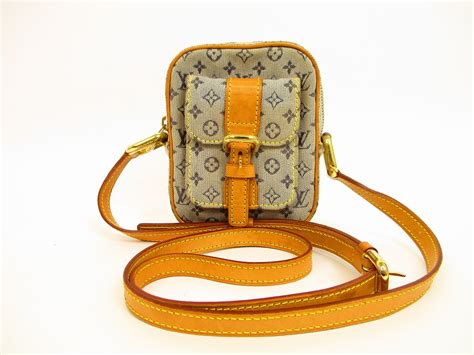 louis vuitton monogram mini canvas blue cross body bag