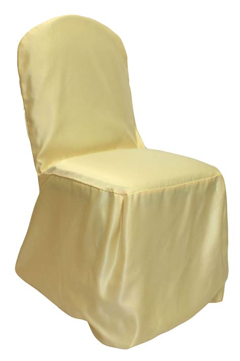 Yellow Chair Covers by Buttercup Crushed Taffeta