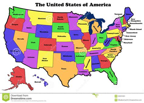 united states map of america map of the united states of america with state names