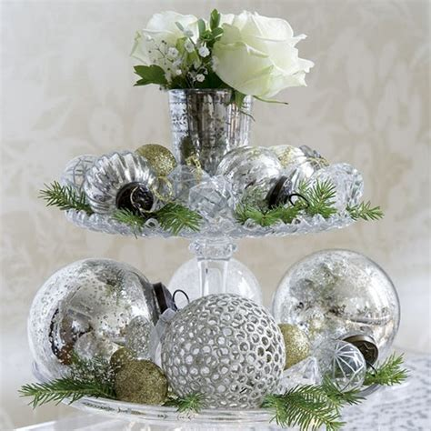 silver centerpieces for table christmas decoration ideas theme colors part 2 interior