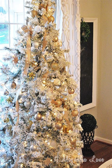 flocked christmas tree  magnolia lane