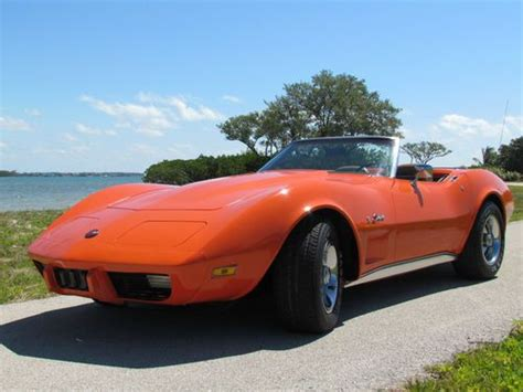 find used 1975 chevrolet corvette convertible loaded s matching a c 4 speed in buy used 1975 classic chevrolet corvette stingray 2 door convertible orange in stuart