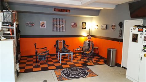 man cave garage harley davidson forums