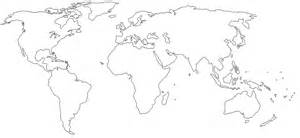 World Map White by World Maps In Black And White