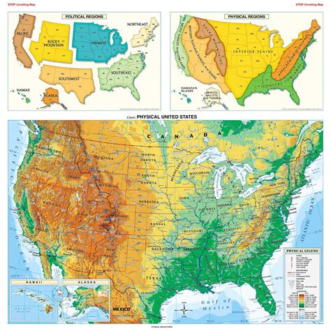physical map of america large detailed physical map of the usa the usa large detailed physical map vidiani maps