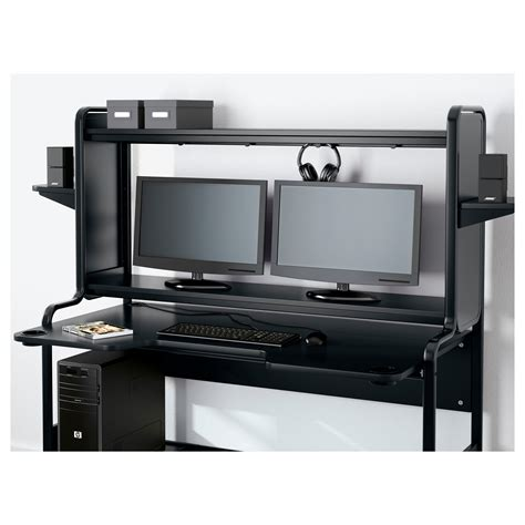 fredde workstation black 185x146x74 cm ikea