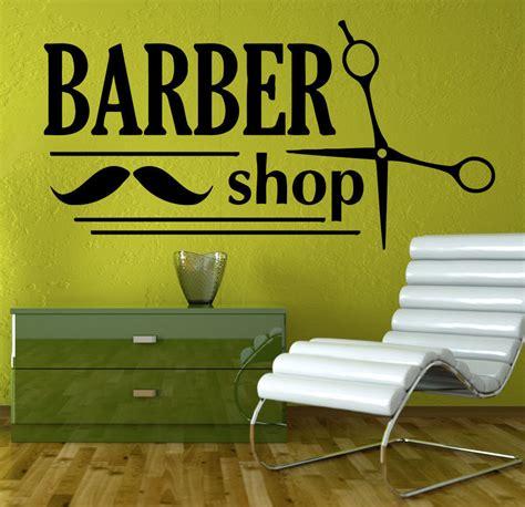 shop wall decor barber shop vinyl wall decal spa salon sicciors