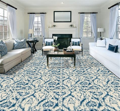 best colour for living room carpet blue morroccan pattern