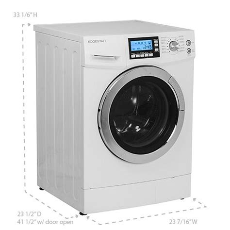 under cabinet washer dryer combo edgestar 2 0 cu ft fastdry ventless washer dryer combo