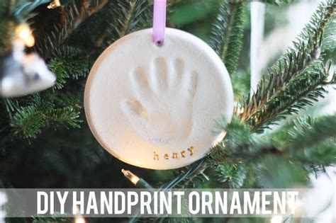 diy salt dough handprint ornament the sheep pinterest