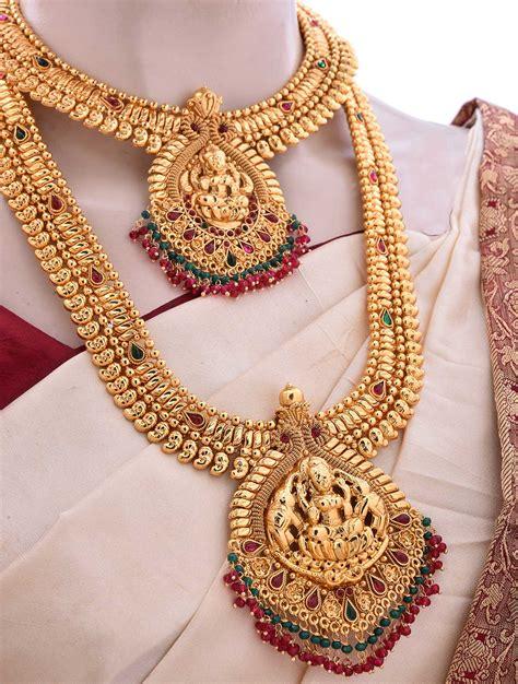 Bridal Sets by Marriage Bridal Jewellery Set With Pink Kemp Stones