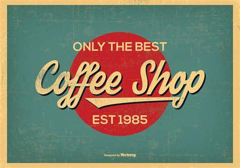 retro stil vintage retro style coffee shop background free