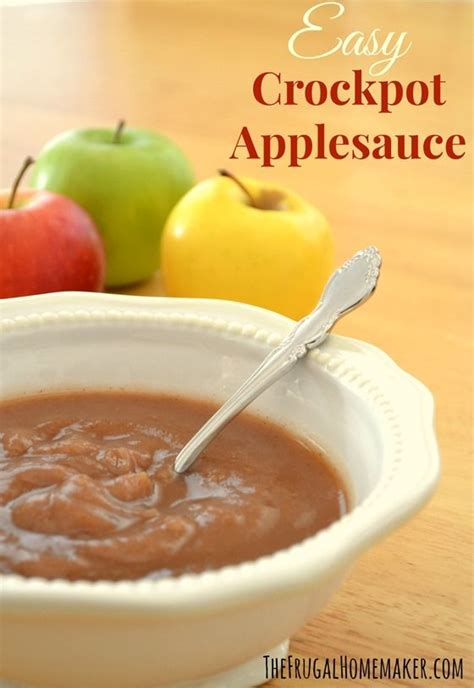 crockpot applesauce home made the frugal home maker teaches how to make your own applesauce in