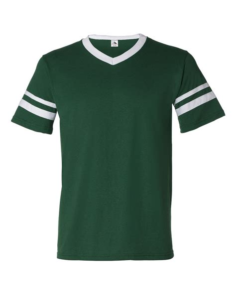 jersey design green and white augusta mens v neck jersey striped sleeves baseball team